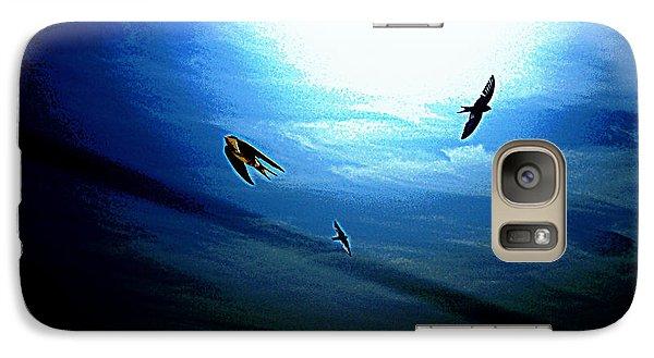 Galaxy Case featuring the photograph The Flight by Miroslava Jurcik