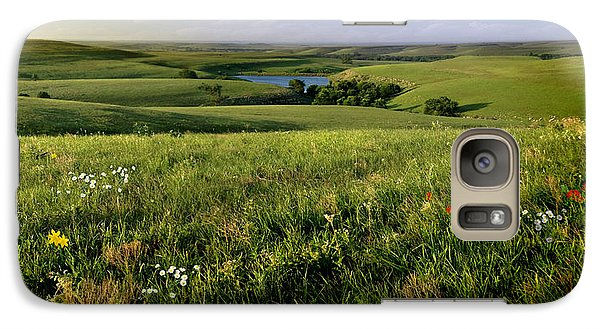 Galaxy Case featuring the photograph The Kansas Flint Hills From Rosalia Ranch by Rod Seel