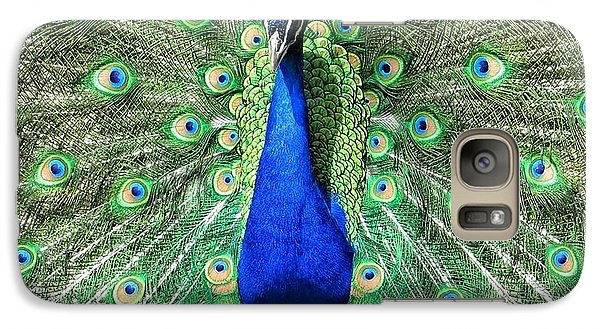 Galaxy Case featuring the photograph The Flirty Peacock by Nikki McInnes