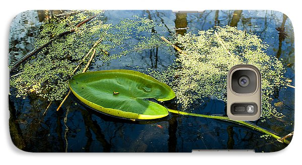 Galaxy Case featuring the photograph The Floating Leaf Of A Water Lily by Verana Stark