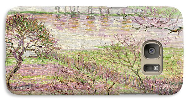 The Flood At Eragny Galaxy S7 Case by Camille Pissarro