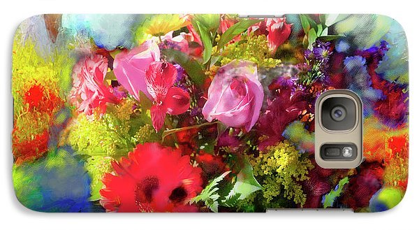 Galaxy Case featuring the painting The Florist by Ted Azriel