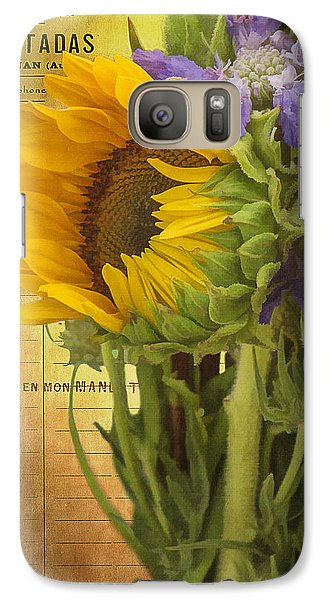 Galaxy Case featuring the photograph The Flower Market by Priscilla Burgers