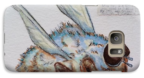 Galaxy Case featuring the drawing The Fly by Vickie Scarlett-Fisher