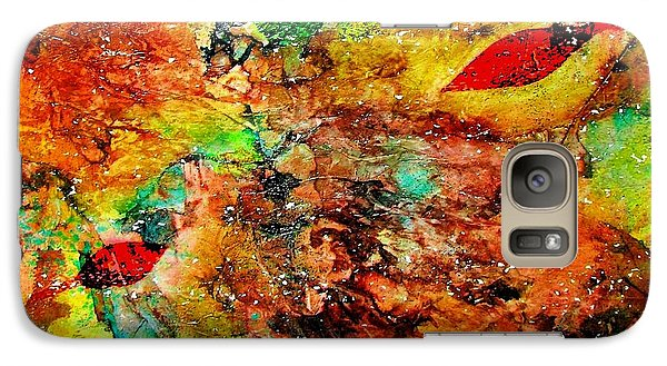 Galaxy Case featuring the painting The Forest Floor by Carolyn Repka