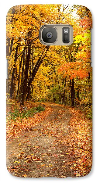 Galaxy Case featuring the photograph The Forest Road by Jim McCain