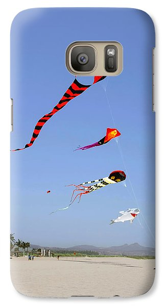 Galaxy Case featuring the photograph The Forgotten Joy Of Soaring Kites by Christine Till