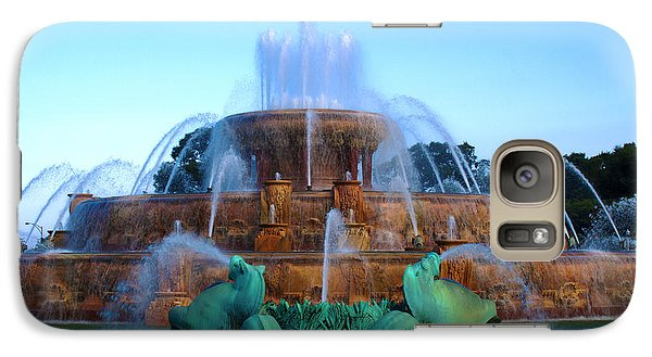 Galaxy Case featuring the photograph the Fountain by Milena Ilieva