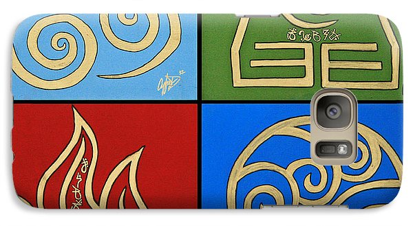 Galaxy Case featuring the painting The Four Elements In Cy Lantyca by Cyryn Fyrcyd