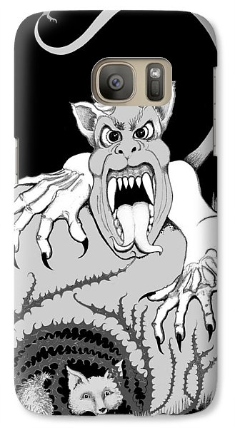 Galaxy Case featuring the digital art The Fox's Fiend  by Carol Jacobs