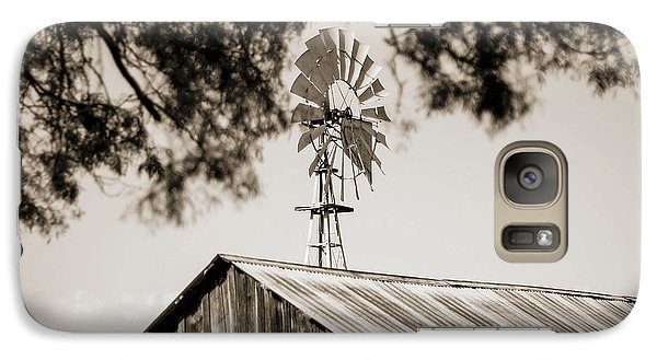 Galaxy Case featuring the photograph The Framed Windmill by Amber Kresge
