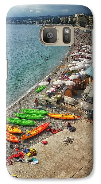 Galaxy Case featuring the photograph The French Riviera by Kim Andelkovic