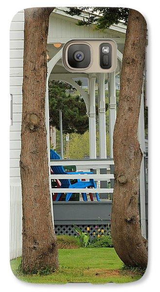Galaxy Case featuring the photograph The Front Porch by E Faithe Lester