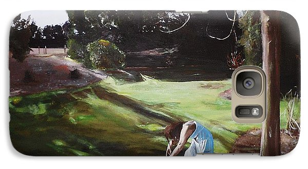 Galaxy Case featuring the painting The Garden by Cherise Foster