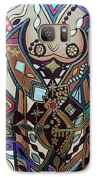Galaxy Case featuring the painting The Gardener by Barbara St Jean