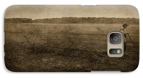 Galaxy Case featuring the photograph The Gardener by Cynthia Lassiter
