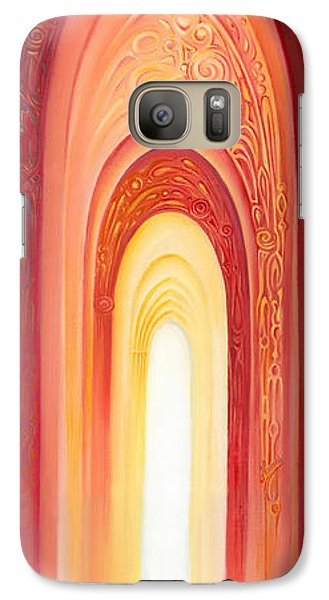 Galaxy Case featuring the painting The Gate Of Light by Anna Ewa Miarczynska