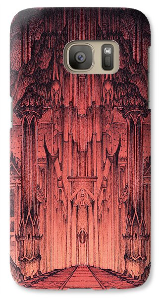Galaxy Case featuring the mixed media The Gates Of Barad Dur by Curtiss Shaffer