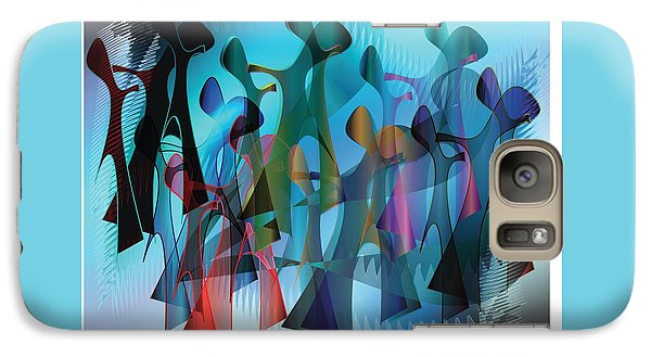 Galaxy Case featuring the digital art The Gathering by Iris Gelbart