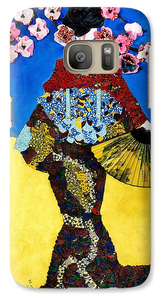 Galaxy Case featuring the tapestry - textile The Geisha by Apanaki Temitayo M