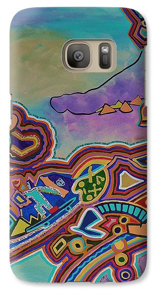 Galaxy Case featuring the painting The Genie Is Out Of The Bottle by Barbara St Jean