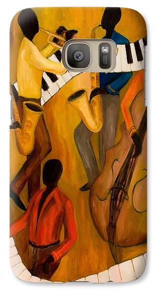Trumpet Galaxy S7 Case - The Get-down Jazz Quintet by Larry Martin