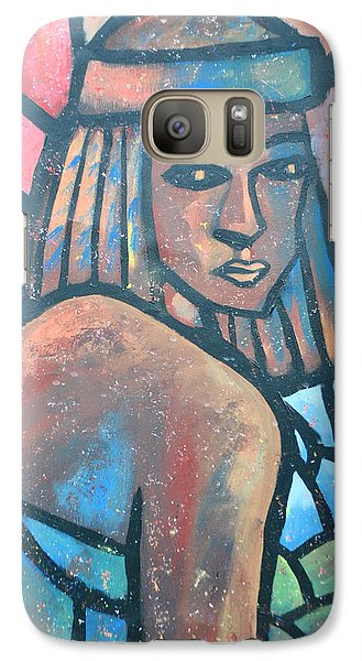 Galaxy Case featuring the painting The Ghost Of Happiness by AC Williams