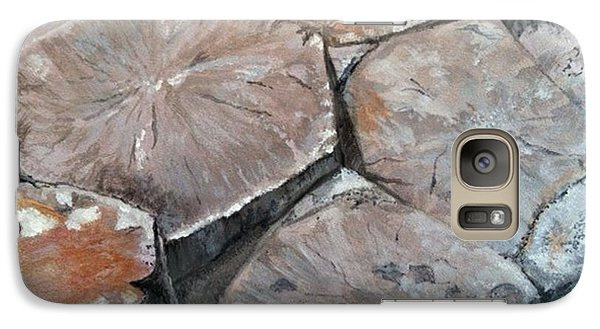 Galaxy Case featuring the painting The Giant's Causeway by Brenda Brown