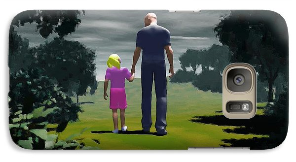 Galaxy Case featuring the digital art The Gift Of Being 'daddy' by John Alexander
