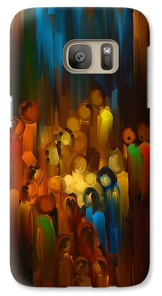 Galaxy Case featuring the painting The Gift by Steven Lebron Langston