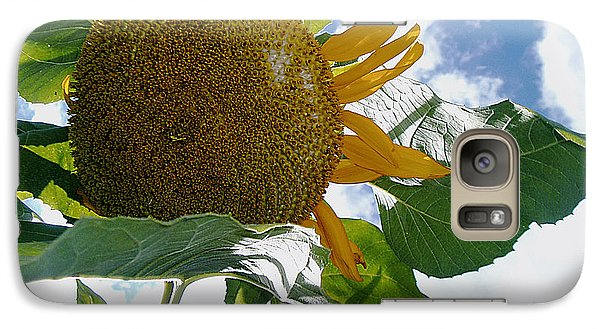 Galaxy Case featuring the photograph The Gigantic Sunflower by Verana Stark
