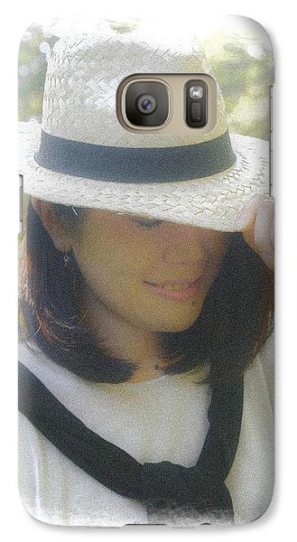 Galaxy Case featuring the digital art The Girl In The Straw Hat by Tim Ernst