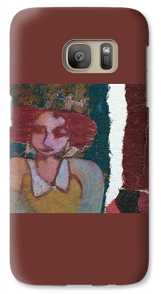 Galaxy Case featuring the mixed media The Girl Waits by Catherine Redmayne