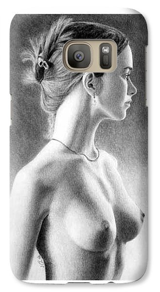 Galaxy Case featuring the painting The Girl With The Glass Earring by Joseph Ogle