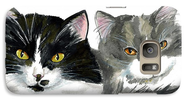 Galaxy Case featuring the painting The Girls by Terry Taylor