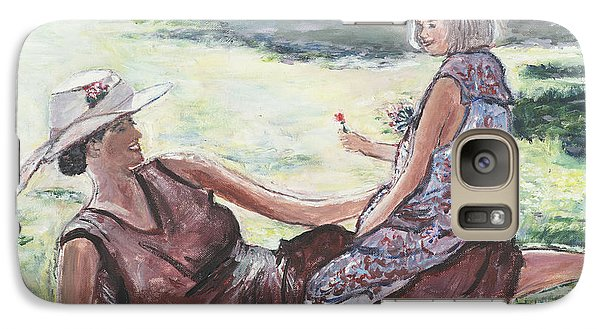 Galaxy Case featuring the painting The Giving by Helena Bebirian