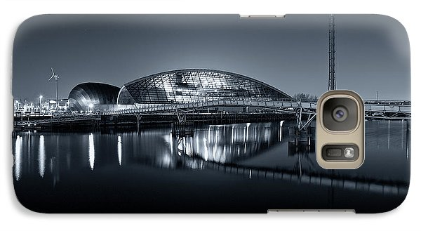 Galaxy Case featuring the photograph The Glasgow Science Centre In Black And White by Stephen Taylor