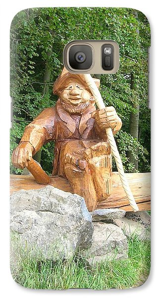 Galaxy Case featuring the photograph The Gnome Knows by Kristen R Kennedy