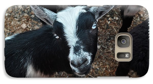 Galaxy Case featuring the photograph The Goat With The Gorgeous Eyes by Verana Stark