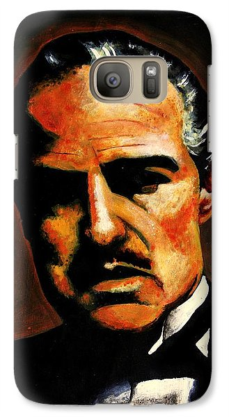 Galaxy Case featuring the painting Godfather by Salman Ravish