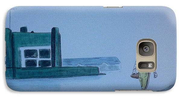 Galaxy Case featuring the painting The Gold Has Left Green Bay by Dan Wagner