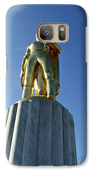 Galaxy Case featuring the photograph The Gold Man  by Mindy Bench