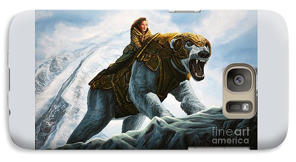 Bear Galaxy S7 Case - The Golden Compass  by Paul Meijering