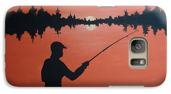 Galaxy Case featuring the painting The Golden Hour by Norm Starks