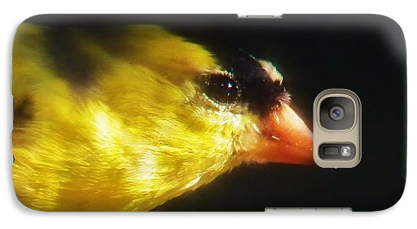Galaxy Case featuring the photograph The Goldfinch by Judy Via-Wolff