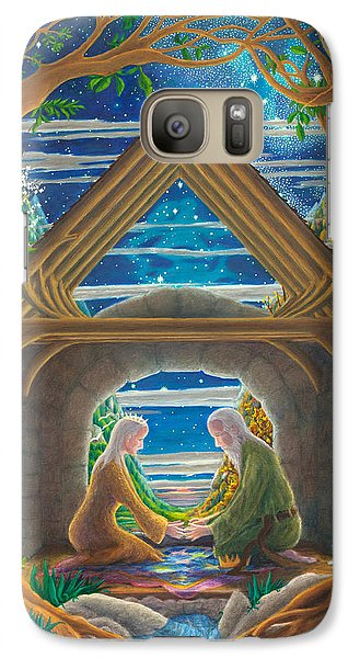 Galaxy Case featuring the painting The Good Marriage by Matt Konar