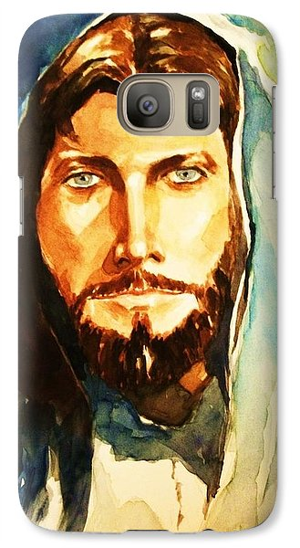Galaxy Case featuring the painting The Good Shepherd by Al Brown