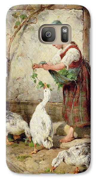 Geese Galaxy S7 Case - The Goose Girl by Antonio Montemezzano