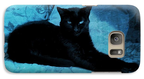 Galaxy Case featuring the digital art The Gothic Cat by Absinthe Art By Michelle LeAnn Scott