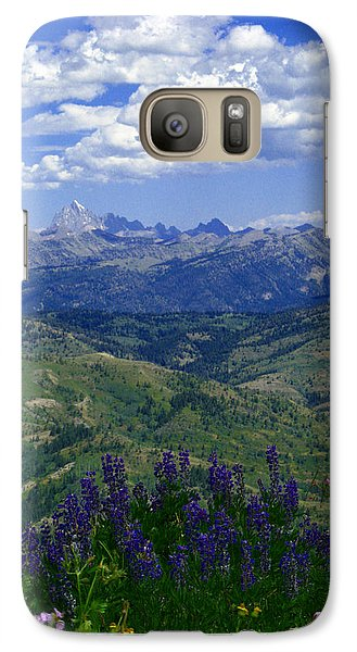 Galaxy Case featuring the photograph The Grand And Lupines by Raymond Salani III